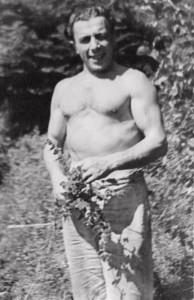 Maxime Lichansky in Anseremme (Ardennen), zomer 1946