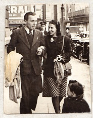 Vader & moeder in Brussel, april 1946