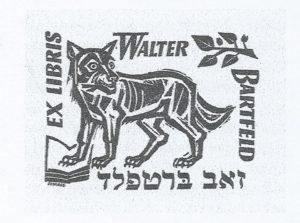 WB exlibris Walter Bartfeld